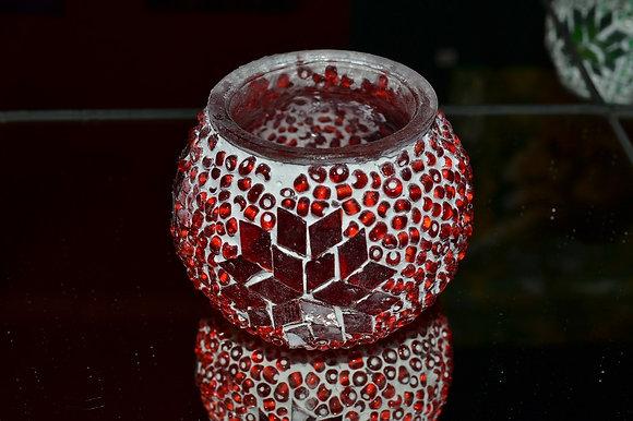 Teelicht Mosaik Rotton handgefertigt