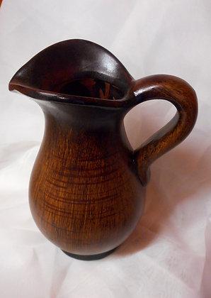 Vase in Braunton und Schwarzoptik Tischvase Keramik Höhe 25cm Krugform