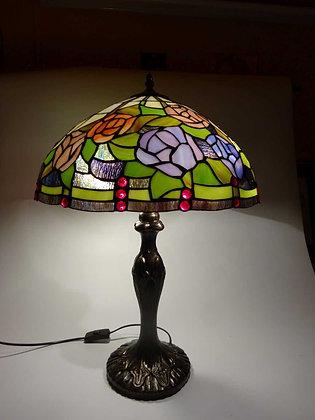 """Tischlampe Tiffanystil """"Flowers II"""" Glas Tischlampe Hängelampe"""