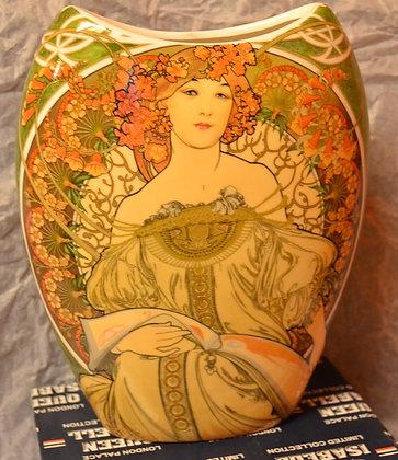 Alfons Mucha Vase Motiv Obraz Porzellan