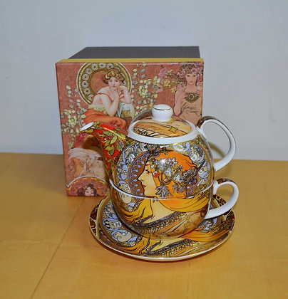 "Tea for One Teekanne Alfons Mucha ""Zodiac"""