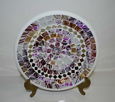 Teller in Mosaiktechnik Dekoteller 20cm Lilaton