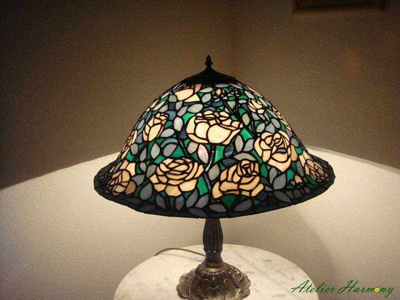 Tiffanylampe Rosenbusch
