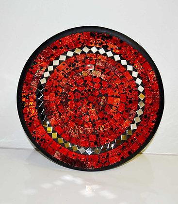Teller in Mosaiktechnik Dekoteller Redlava 27cm