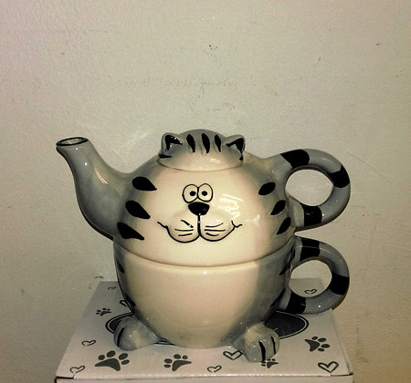 Tea for One Happycat Porzellan 3teilig