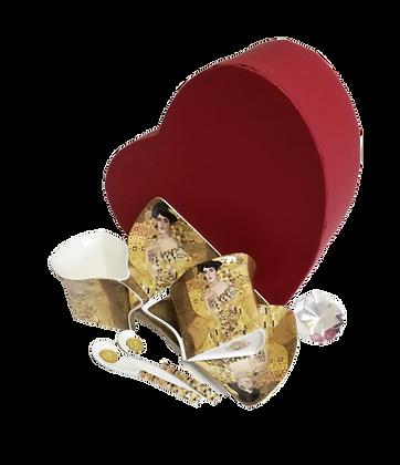 Teetassen Kaffeetassenset 6teilig Gustav Klimt Adele Porzellan mit Geschenkbox