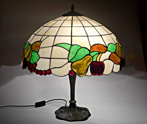 """Tischlampe Tiffanystil """"Fruit Dream"""" Glas Tischlampe"""