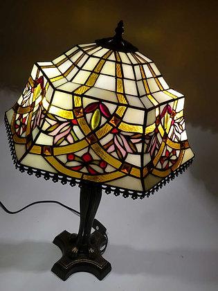 "Tischlampe Tiffanystil ""Baroness II"" Glas Tischlampe"