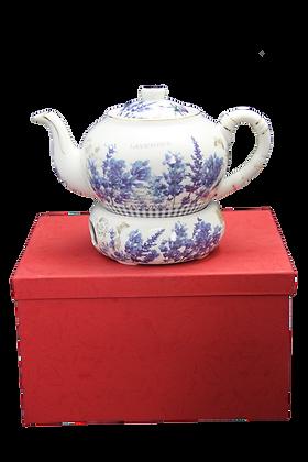 """Tee Kaffeekanne """"Lavendel"""" Porzellan"""