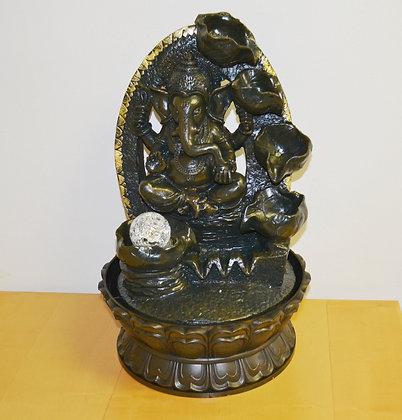 Innenbrunnen Zimmerbrunnen Meditation Ganesha Wasserfall ca. 40cm