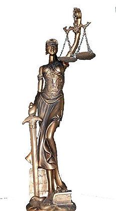 JUSTIZIA bronze farbend FIGUR JUSTITIA GÖTTIN DER GERECHTIGKEIT 40cm!