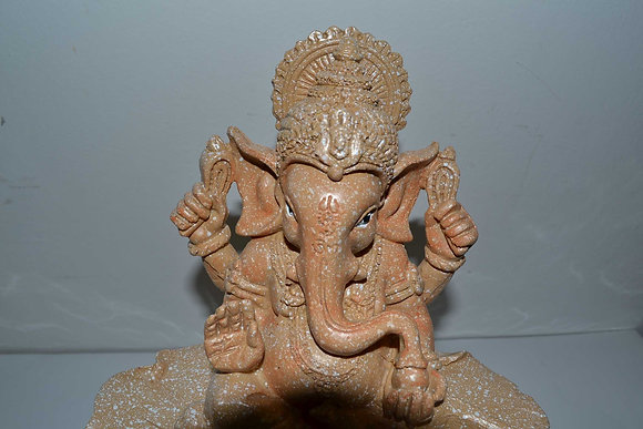 Zimmerbrunnen Ganesha mit Led und Kugel