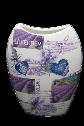 Vase Motiv Lavendel Porzellan Blumenvase inkl. Geschenkkarton