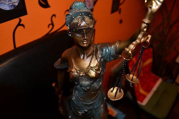JUSTIZIA bronze farbend JUSTITIA GÖTTIN DER GERECHTIGKEIT 40cm!