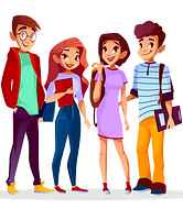 cartoon-back-college-concept-with-cheerf