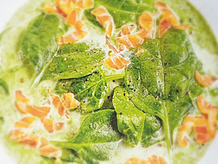 Špenátovo-lososová polévka