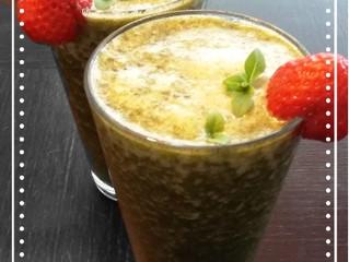 Osvěžující jahodovo-bazalkové smoothie