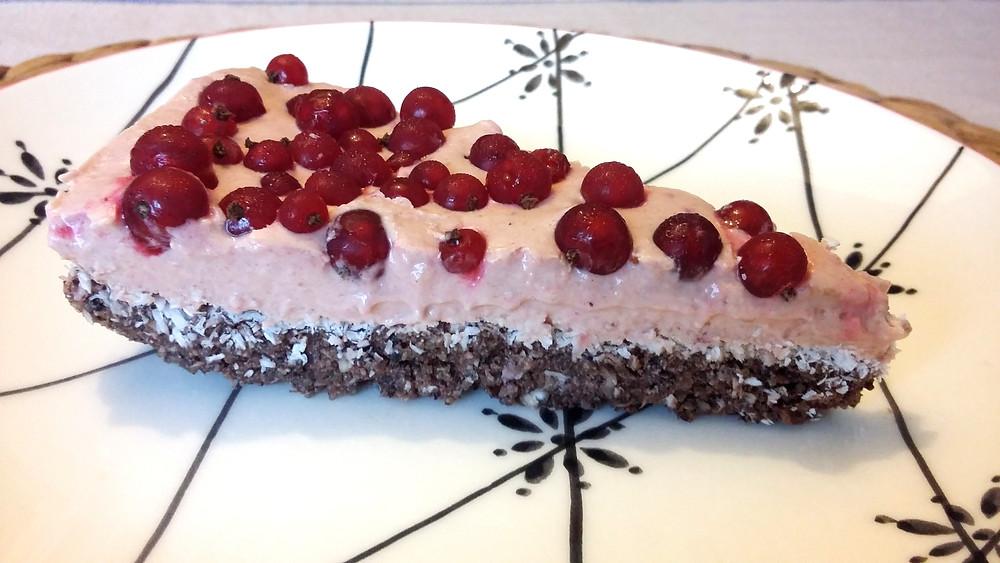 krémový koláč s rybízem