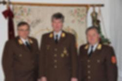 AFK BR Julian Slavicek (Mitte) mit LFK LBD Leopold Winter (links) und BFK LBD-Stv. Hermann Kobler