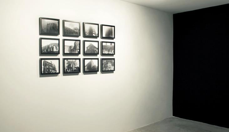 """Galería Aural. """"Schwarz"""", series Edera y L'architecture des arbres. Alicante, 2014"""