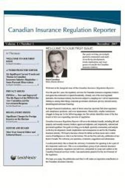 Canadian Insurance Regulation Report