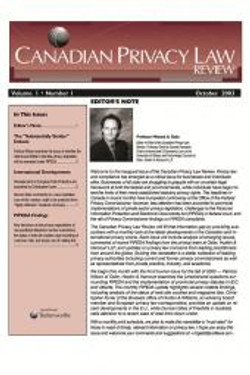 Canadian Privacy Law Review