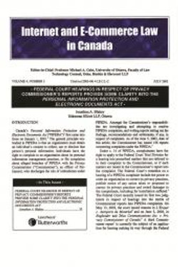 Internet and E-Commerce Law in Canad