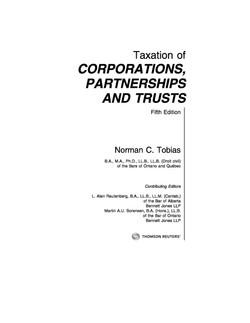 Taxation of Corporations, Partnershi