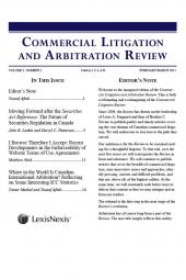 Commercial Litigation and Arbitratio