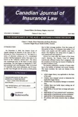 Canadian Journal of Insurance Law