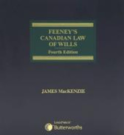 Feeney's Canadian Law of Wills