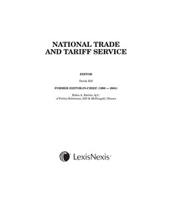 National Trade and Tariff Service