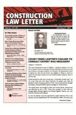 Construction Law Letter