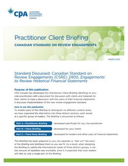 Practitioner Client Briefing: Canadi