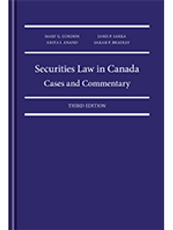 Securities Law in Canada: Cases and