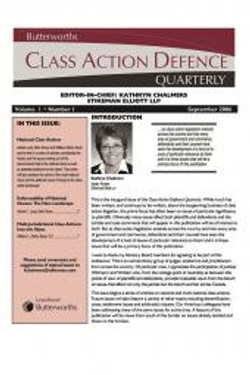 Class Action Defence Quarterly
