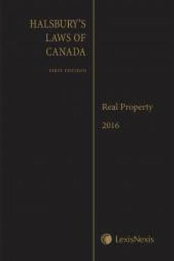 Halsbury's Laws of Canada: Real Prop