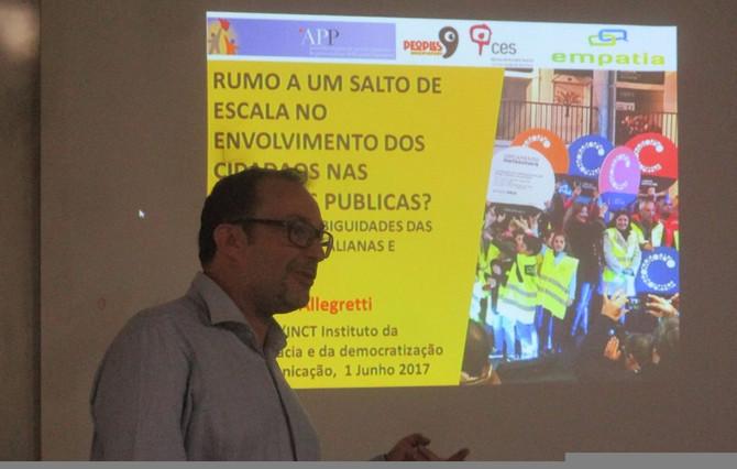 Participação social na Europa é tema de Conferência no Instituto.