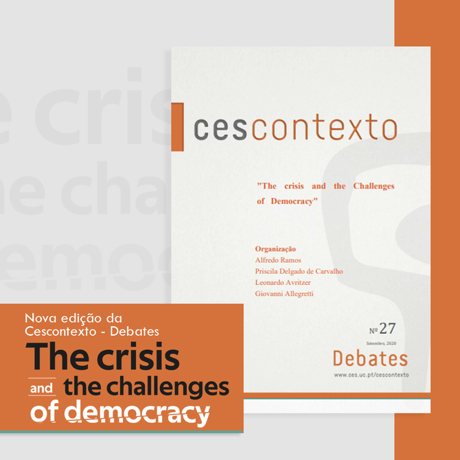 Confira nova edição da revista Cescontextos: The crisis and the challenges of democracy