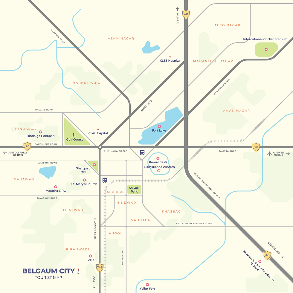 Belgaum Tourist Map