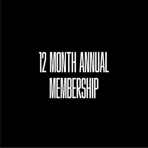 12 Month Annual Membership
