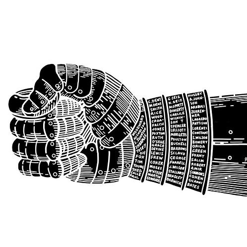 'Fist Bump' Risograph