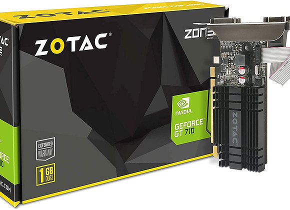 ZOTAC GeForce GT 710 1GB DDR3 PCI-E2.0 DL-DVI VGA HDMI Passive Cooled Single