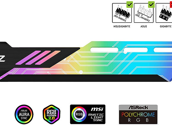 EZDIY-FAB RGB GPU Holder 5V 3-Pin Colorful RGB Graphics Card GPU Support Video