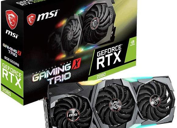 MSI Gaming X Trio GeForce RTX 2080 Triple-Fan 8GB GDDR6 PCIe Graphics Card