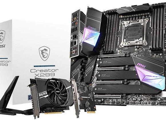 MSI Gaming Intel X299 LGA 2066 Thunderbolt M3 Wi-Fi 6 Extended Atx Motherboard