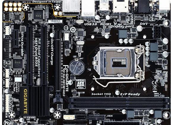 Gigabyte LGA 1150 Intel H81 USB 3.0 SATA 6Gbps HDMI DVI-D D-Sub mATX Motherboard