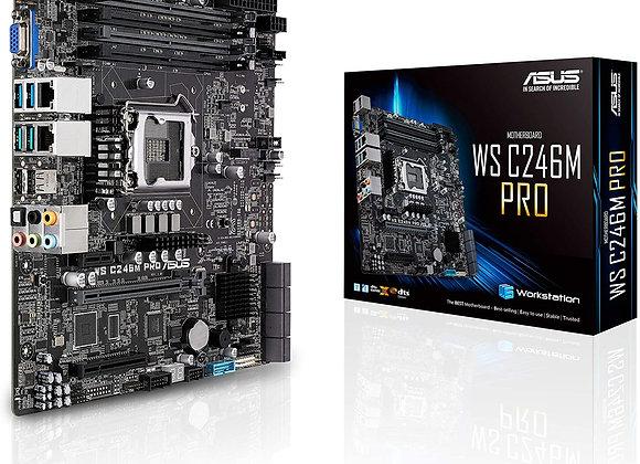 Asus Motherboard LGA1151 C246 Max 64GB DDR4 PCI Express USB3.1 uAtx