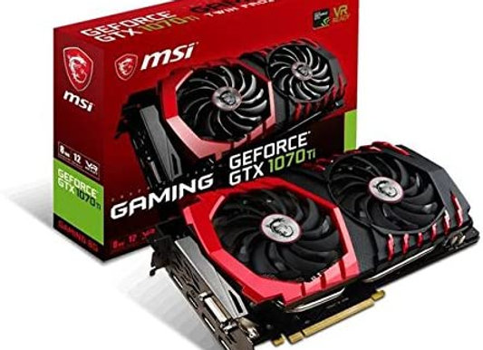 MSI Gaming GeForce GTX 1070 Ti 8GB GDRR5 256-bit HDCP Support DirectX 12 SLI