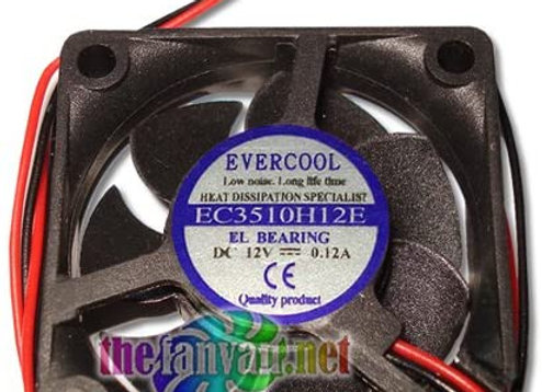 Evercool 35mm x 10mm 12 Volt Everlube Bearing Fan w/2 Pin 7mm Connector